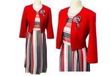Nuevo vestido para mujer blanco rojo con Bolero/Chaqueta Para Bodas Eventos Fiestas de la Iglesia