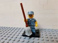 Lego Minifigures Series 15 71011-9 Janitor Cleaner with Mop
