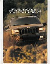 1996 Jeep Grand Cherokee Brochure , muddy off road 4 x 4  cover !!   / m4