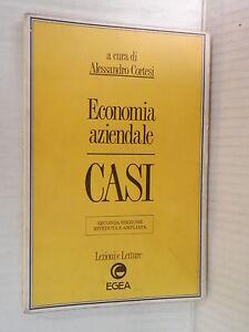 ECONOMIA AZIENDALE CASI Alessandro Cortesi EGEA Lezioni e Letture 1995 libro di