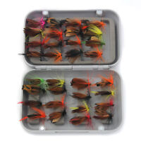 32pcs Fly Fishing Flies Assortment Trout Flies Lures Hook Tackle