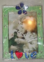 Taylor Avedon collectible Enamel  Crystals love Photo Picture Frame  new + box