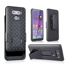 New Slim Shell Holster Belt Clip Combo Hard Case With Kickstand For LG G6