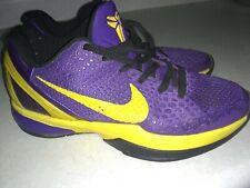 Rare NBA Nike Kobe Bryant VI Lakers 24 Purple Yellow Shoes Basketball 2010