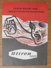 POSTER ART DECO Austria Colds Flu ULTREN Medicine Medical History Postcard gfx
