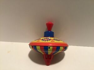 Reproduction Colorful Tin Spinning Top Toy Schylling