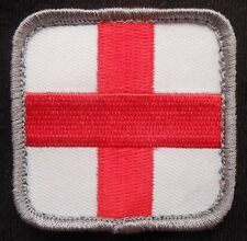 MEDIC SQUARE EMT EMS CROSS ARMY MILITARY COLOR VELCRO® BRAND FASTENER PATCH 2""