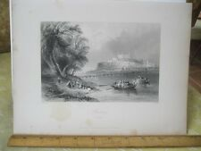 Vintage Print,PRESBURG,Engraving,WH.Bartlett,Turkey+Greace