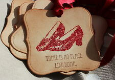 RUBY SLIPPERS-DOROTHY-WIZARD OF OZ-Handmade Vintage Style Tags-Favour-Party