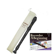 Yamaha Descant  YRS24BUK school recorder with  Book 1
