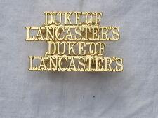 Duque of Lancaster Regimiento, Títulos de hombro