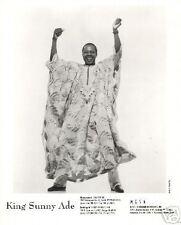 KING SUNNY ADE PHOTO Juju Music AfroPop Africa World