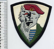 RUSSIAN MILITARY SLEEVE PATCH SPETSNAZ SPECIAL FORCE VEREWOLF MAROON BERET