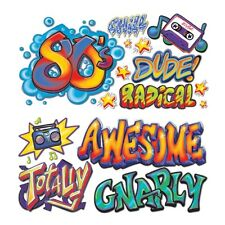 Large GRAFFITI WALL PROPS Totally 80's Party Decorations URBAN NYC Photo Booth