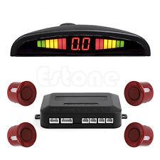 LED Display 4 Parking Sensors Car Auto Backup Reverse Radar System Alarm Kit Red