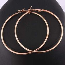 Round Big Large Hoop Huggie Loop Earrings for Women C VCG