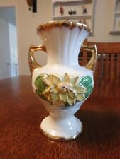 VINTAGE HULL ART VASE WITH GOLD TRIM. VERY GOOD CONDITION L-5