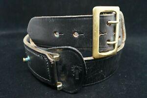 Vintage Canadian Police Officers Leather Belt
