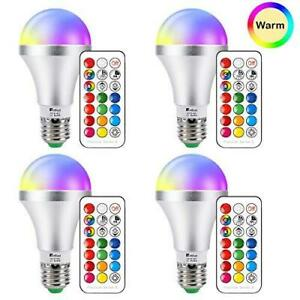NetBoat 10W E26 RGBW LED Bulbs Dimmable,RGB+Daylight White Color Changing Light