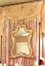 7 ft Shabby Vintage Chic Curtain Rag Garland Wedding Backdrop Pink Mint Birthday