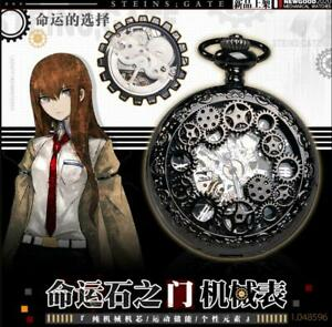Anime Steins;Gate Makise Kurisu Cosplay VINTAGE Mechanical Watch Pocket Watch