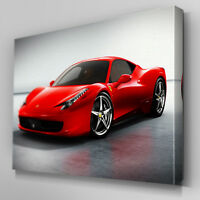 Cars157 Ferrari 458 Spider Angle Canvas Art Ready to Hang Picture Print