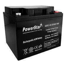 12V 45Ah AGM Deep Cycle Battery Ft 18-50LB Thrust Trolling Motor 2 Year Warranty