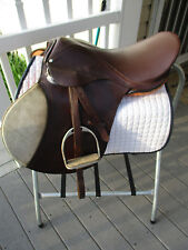 17'' BLUE RIDGE A/P ENGLISH  LEATHER SADDLE WITH LEATHERS & IRONS & SADDLE PAD