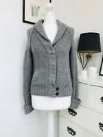 American Eagle Outfitters Ladies Grey Cardigan Jacket Size L G Vintage Style