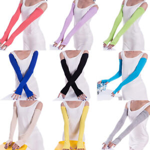 Women Summer Arm Sleeves Cover Anti UV Sun Protection Driving Sports Long Gloves
