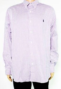 Ralph Lauren Mens Dress Shirt Purple Size Large L Twill Classic Fit $89- 029