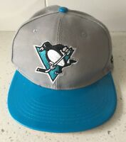 PITTSBURGH PENGUINS Blue Shiny Brim Hat Adjustable Cap NHL