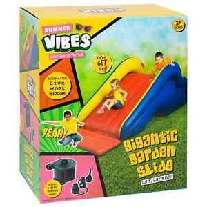 Summer Vibes Kids Children Gigantic Inflatable Garden Slide Outdoor Summer Fun