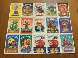 Lot of 15 Garbage Pail Kids Cards Original Series 1980's NM-M Garbage Gang (1)
