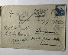 Deutsches Reich Bahnpost Berlin-Frankfurt auf Paris m.Adressänderung -Michel 582