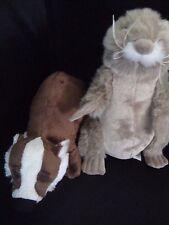Webkinz PLUSH ONLY LOT  :  BADGER + PRAIRIE DOG  -  JUST THE PLUSH !!!!!!!!