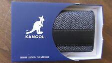 Kangol Genuine Leather Harry Bifold Card Case Wallet  Super Nice BRAND NEW Kind