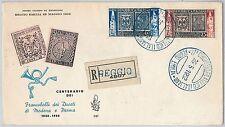 47395 - ITALIA REPUBBLICA - BUSTA FDC 1952 Sass 689/90 MODENA / PARMA - CENTRATI