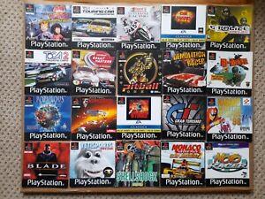 20 x JOB LOT of PAL PlayStation 1 PS1 GAMES INSTRUCTION MANUAL BOOKLET BUNDLE *G