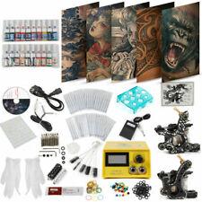 Tattoo Komplett Kit Set Netzgerät 2 Tattoo Maschine 20 Ink 50 Nadeln+Foot switch