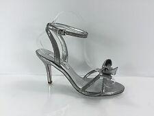 Nina Womens Silver Heels 6 M