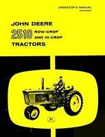 John Deere 2510 Row Crop and Hi-Crop Tractor Owner Operators Manual JD