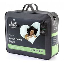GOOSE DOWN 60% GOOSE FEATHER 40% 4.5 TOG THE FINE BEDDING COMPANY SINGLE DUVET