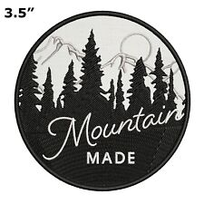 Mountain Made Park Patch Hiking Souvenir Travel Embroidered Iron / Sew-on