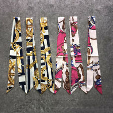 Women Lady Scarves Ribbon Tied The Bag Handle Decor Ribbon Scarf Color Random