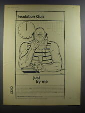 1964 Cape Insulation And Asbestos Products Limited Ad - Insulation Quiz
