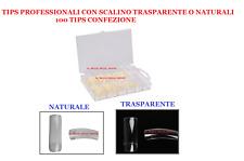 Kit 100 tips Naturali o trasparenti + confezione.Unghia Naturale Trasparente