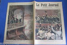 Le petit journal 1893 155 fêtes franco-russes à Paris feu artifice tour eiffel