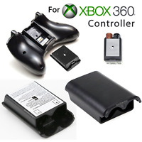 Battery Pack Cover Case Shell for Xbox 360 Game Controller Black White /DC