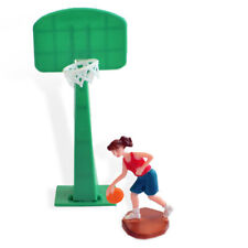 Basketball Player Girl Woman and Hoop Cake Topper, Sports Team Party Decoration